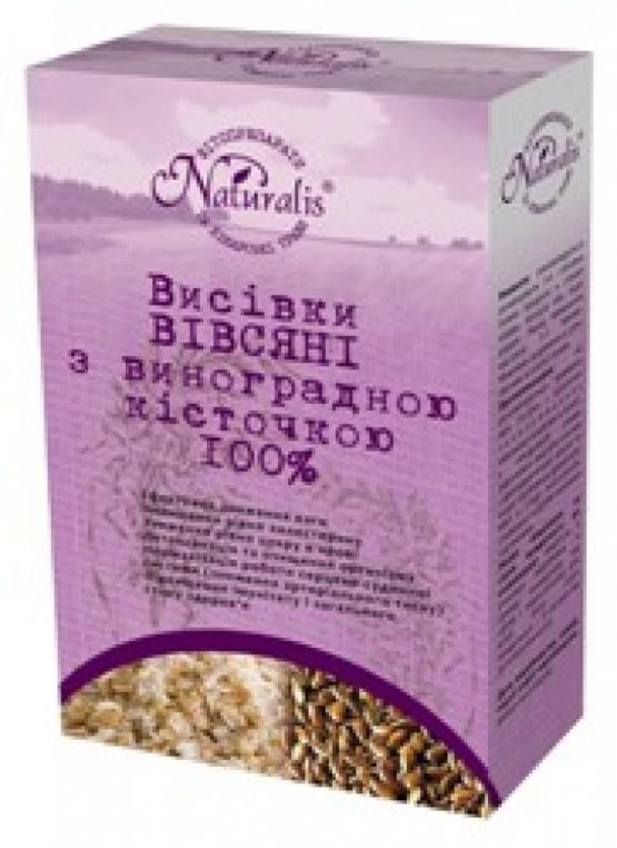 Oat Bran with grape seeds