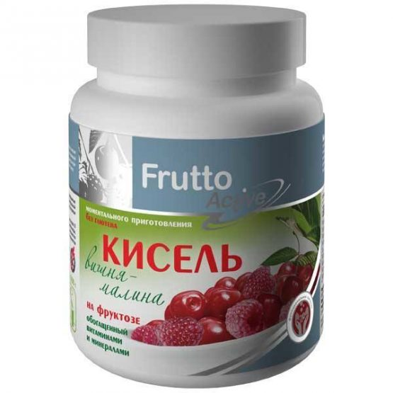 """Kissel Art Life """"cherry-raspberry"""" on fructose with vitamins and minerals"""