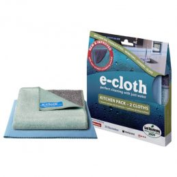 Set of two wipes to clean all kitchen surfaces and utensils E-Cloth Kitchen Pack
