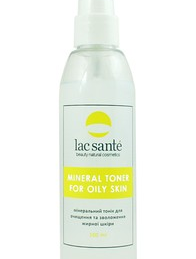 Mineral tonic for cleaning and moisturizing oily skin Lac Sante