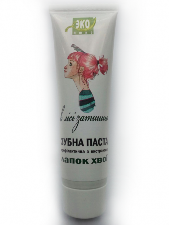 Natural toothpaste with an extract of pine